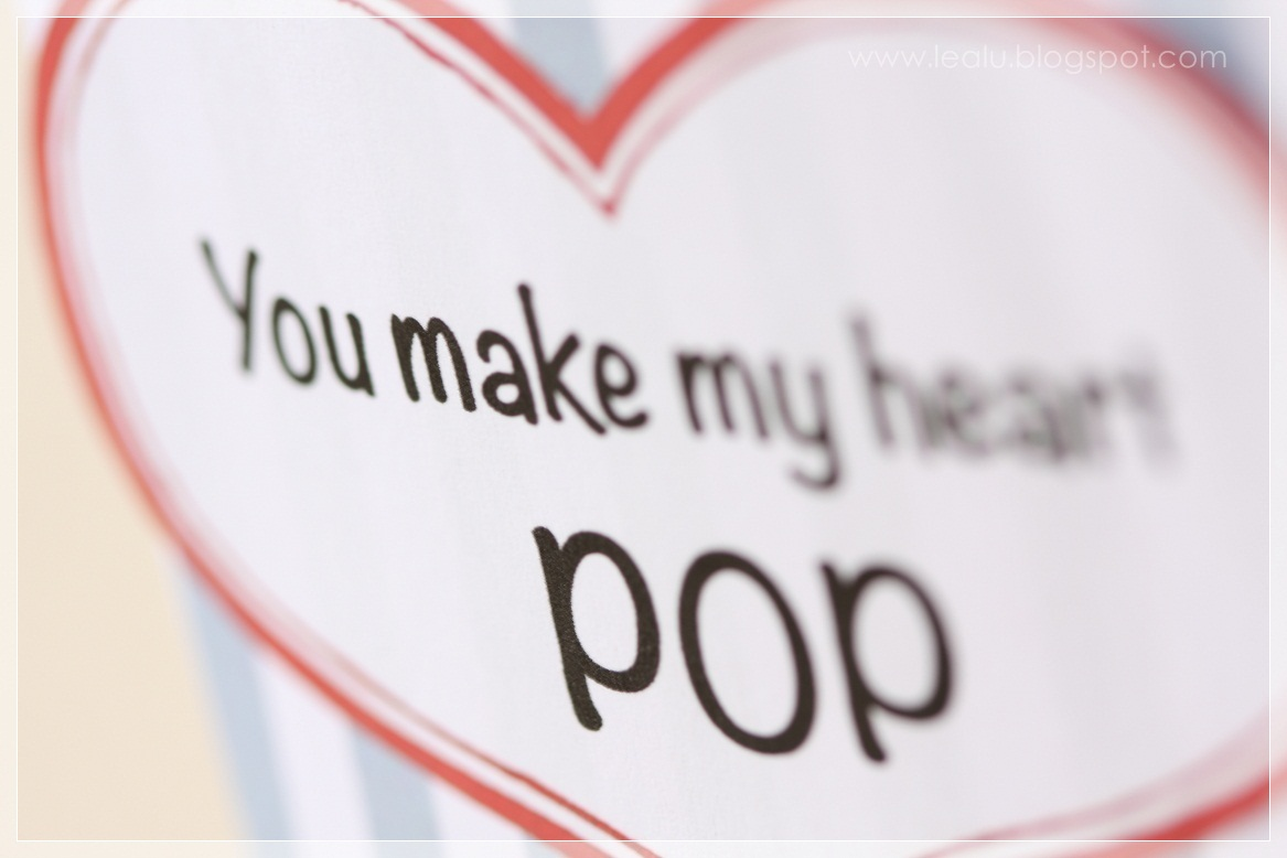 You make my heart pop