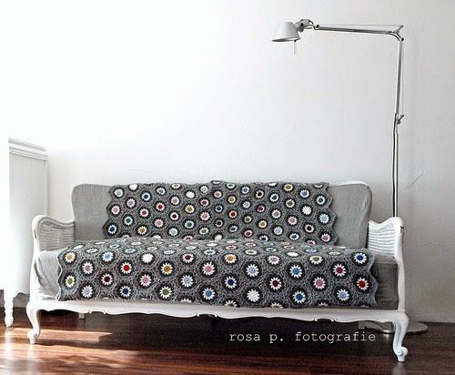 Rosas Grey Häkeldecke